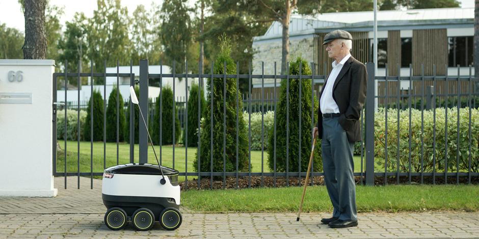 Una de robots, drones y timbres inteligentes para entregar paquetes